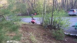 snowmobiling without snow a backyard adventure part 1 youtube