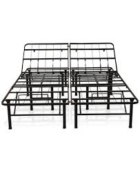 Macys Bed Frames Sleep Trends Adjustable 14 Inch Metal Bed Frame Assembly Required
