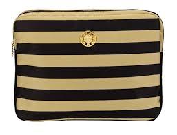 designer laptop sleeves and gold stripe 13 laptop sleeve
