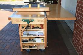 ekho mobile workshop u2013 portable cabinet saw work bench and router