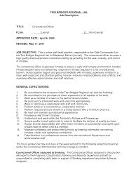 Sample Resume For Correctional Officer by Corrections Officers Resume Sales Officer Lewesmr