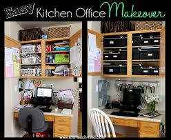 organized kitchen office makeover kitchen office office spaces