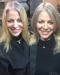 how to grow in gray hair with highlights before and after on miaboudoir growing out your natural grey