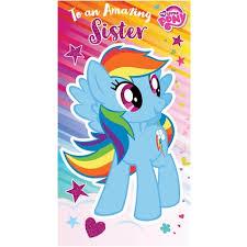 my little pony sister birthday card danilo