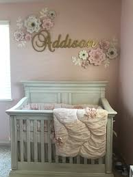 Grey And Pink Nursery Decor by Baby Nursery With Pink And Gold Theme Baby Nursery
