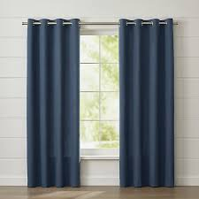 wallace blue grommet curtain panel crate and barrel