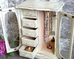 Large White Jewelry Armoire Large Jewelry Armoire Etsy