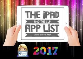 The Ipad U0026 The Slp In 2017 App List For Slps Sorted By Goal