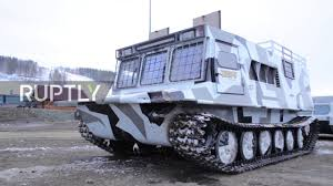amphibious rescue vehicle video russia shows off new all terrain truck
