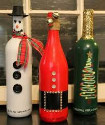 wine bottle christmas ideas christmas wine bottle vases by lalacreations4 on etsy wine