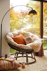 papasan taupe chair frame rattan and pillows
