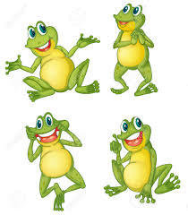 illustraiton of green frogs on white royalty free cliparts