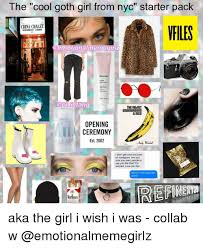Meme Restaurant Nyc - the cool goth girl from nyc starter pack china chalet vfiles