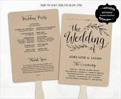 wedding fan program wedding program template 61 free word pdf psd documents