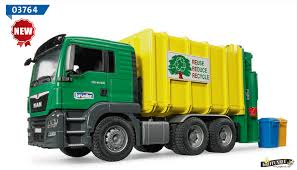 land rover bruder bruder commercial garbage collection man tgs rear loading