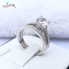 wedding ring sets for women colorfish classic four prongs 1 25 ct solitaire engagement wedding