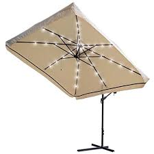 offset patio umbrella with led lights 9x9ft square offset patio umbrella w led lights