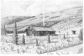 log cabin drawings sketches of alaska kantishna s busia cabin exudes alaskan ambiance