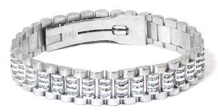 gold bracelet rolex images Rolex style 9 2ct diamond bracelet 14k white italian gold tns jpg