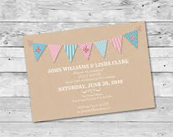 bunting invitation etsy