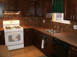 Kitchen Backsplash Cherry Cabinets by Luxury Cherry Kitchen Cabinets Featuring Straight Shape Kitchen
