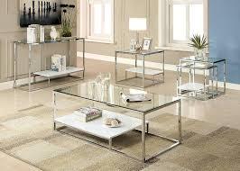 amazon com furniture of america gacelle contemporary glass top