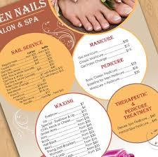 nail menu design spring style nails in pics