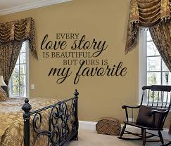 every love story wall decal wall decals by amanda s designer if your master bedroom is in need of a little romantic touch you ll want to add this to your bedroom decor perfect for any color scheme this design is