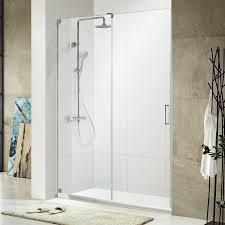 Single Frameless Shower Door Republic Oasis 48 X 72 Single Sliding Frameless Shower