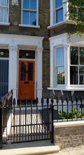 yorkstone entrance stone yellow stock brick garden wall rail and