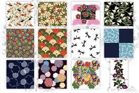 traditional japanese pattern vector set print pattern