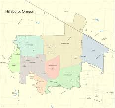Map Of Beaverton Oregon by File Hillsboro Map Svg Wikimedia Commons