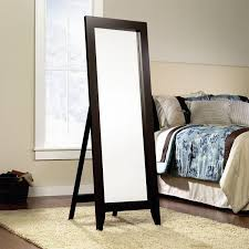 Jaclyn Smith Bedroom Furniture by Jaclyn Smith Espresso Wood Standing Floor Mirror Shop Your Way
