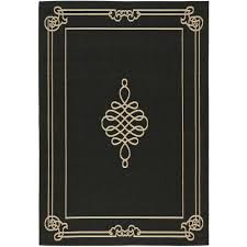 Safavieh Outdoor Rugs Safavieh Courtyard Black Cream 6 Ft 7 In X 9 Ft 6 In Indoor