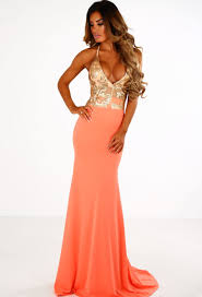 pink boutique dresses natalina orange and gold sequin backless maxi dress pink boutique
