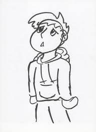 sketch drawing of a sad boy sadboy snow sketchronaldkaiser on