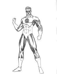 green lantern 1 superheroes u2013 printable coloring pages