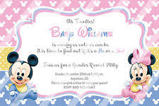mickey mouse baby shower invitations minnie mouse baby shower invitations ebay