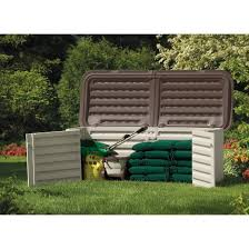 Suncast 97 Gal Resin Outdoor Resin Multi Purpose Storage Shed Taupe Brown Suncast Target