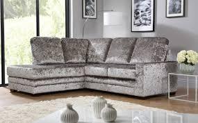 Grey Velvet Sofas Grey Velvet Corner Sofa Bed Centerfieldbar Com