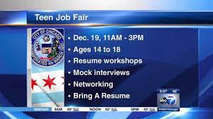 Resume For A Summer Job by Chicago Park District To Host Teen Job Fair At Soldier Field