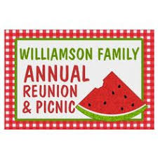 family reunion picnic barbeque yard sign summer pinterest