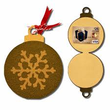 bits of paper ornament gift card holders