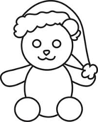 free teddy bear clipart image christmas teddy bear coloring