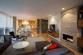 Floating Tv Cabinet Family Room Modern With White Wall - Family room lamps