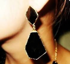 statement earrings gold and black statement earrings