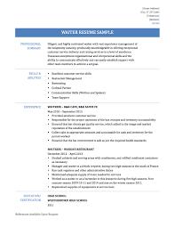 Sample Resume Objectives For Waiter by Waiter Resume New 2017 Resume Format And Cv Samples Resume