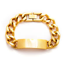 ladies bracelet with images Ladies gold plated curb chain id bracelet eve 39 s addiction jpg