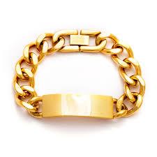 engravable id bracelet gold plated curb chain id bracelet s addiction
