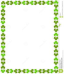 shamrock clip art free border clipart collection